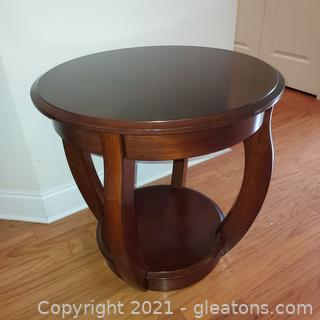 Lovely Cherry Round End Table