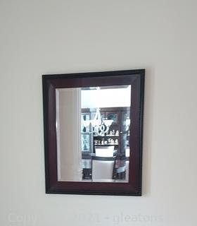 Large Decorative Beveled Glass Wall Mirror