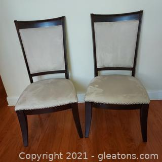 Pair of Contemporary Broyhill Affinity Upholstered Dining Room Side Chairs