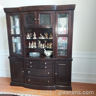 Contemporary Broyhill Affinity Collection China Cabinet and Base (2 Pieces ) Contents not Included