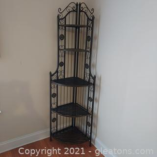 Cute Folding Metal Corner Shelf