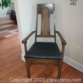 Mid Century Cane Back Arm Chair