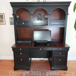 Gorgeous Credenza with Hutch (Does not include any other items in picture)