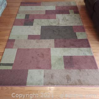 Multi Color Chocolate Garden Ridge Heritage Collection Area Rug