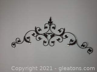 Scrollwork Metal Wall Art