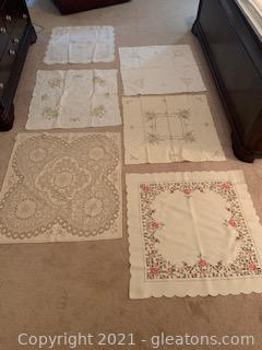 Six Square Table Scarves