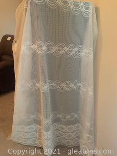 Sheer Lace White Curtain