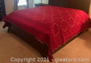 Gorgeous Red King Size Quilt