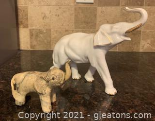 Two Piece Elephant Decor Lot