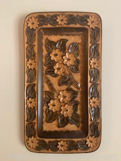 Wooden Carved Floral Wall Decor
