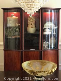 Skovby Rosewood Display/China Cabinet Made in Denmark (See Notes)