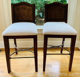 Classy High Top Velvet Bar Chairs