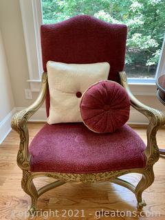 Andre Originals Louis XV Chenille Arm Chair