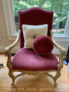 Andre Originals Louis XL Chenille Arm Chair