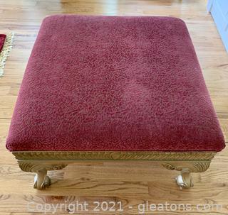 Andrea Originals Louis XL Chenille Ottoman Table