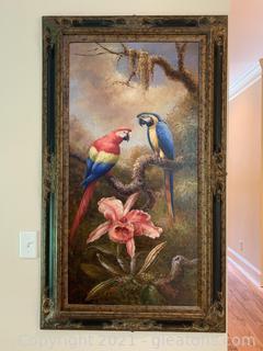 Entrancing Tropical Rainforest Framed Painting