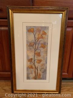 Appealing Signed Floral Framed Print