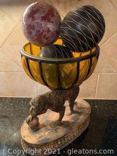 Delightful Monkey Bowl with Decor Balls