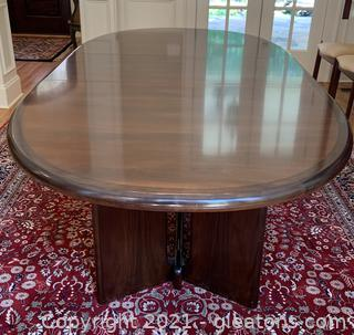 Ansager Solid Teak with Rosewood Stain Dining Table From Denmark