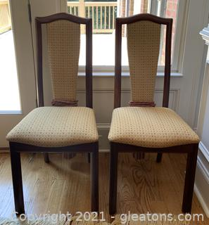 Two Mid Century Modern Custom Upholstered Dining Chair