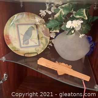 Eclectic Decor Lot (Inside Display Cabinet)