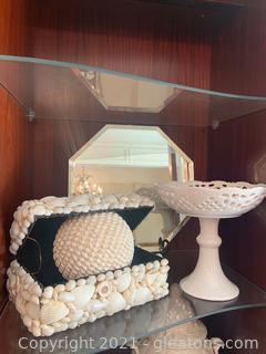 Four Piece Decor Lot  (Inside China Cabinet)