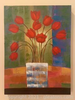 Canvas Tulip Still Life
