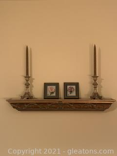 Five Piece Shelving and Wall Decor