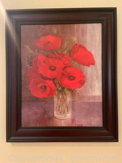 """Framed Still Life """"Poppies"""""""