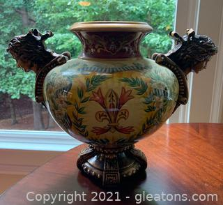 Victorian Floral Decorative Pedestal Vase