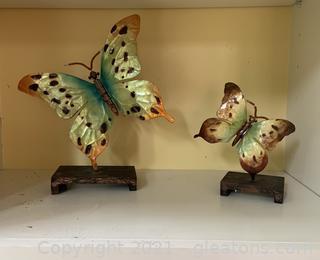 Two Piece Lightweight Butterfly Art