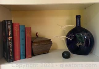 Eclectic Shelf Staging Decor Lot