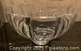 Heavy Scalloped Glass Bowl