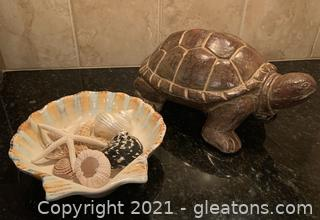 Turtle and Shell Decor