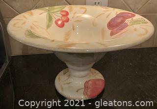 Decorative Ceramic Fruit Bowl