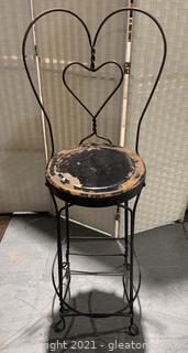 Vintage Metal Ice Cream Parlor Chair