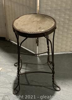 Antique Twisted Wire Victorian Stool