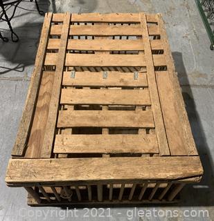 Vintage Oak Chicken Crate