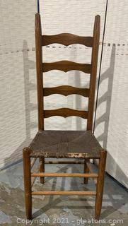 Ladder Back Rush Seat Shaker Side/Dining Table