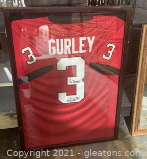 Todd Gurley Signed And Framed Red Georgia Bulldogs Jersey