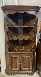 Corner Wooden Hutch