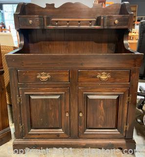 Dark Wooden Dry Sink/Bar/Cabinet