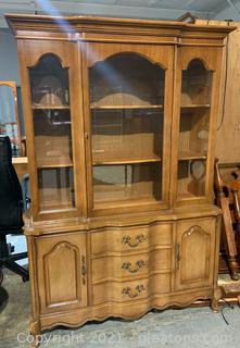 Bassett Furniture French Provincial China Cabinet
