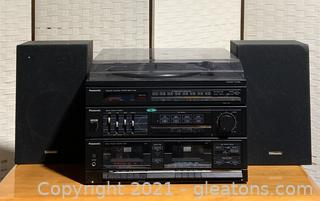Panasonic Quartz Synthesizer Am/Fm Stereo Tuner and Automatic Turn Table