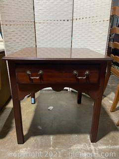 Drexel Side Table with Drawer