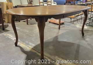 Vargas Queen Ann Style Extending Dining Table