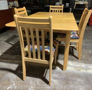 Mid Century Modern Extending Dining Table and 4 Chairs