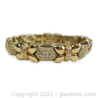 Stunning Diamond Bracelet in 14kt Yellow Gold