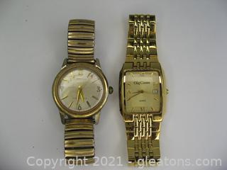 2 Men's Watches – Croton & Oleg Cassini