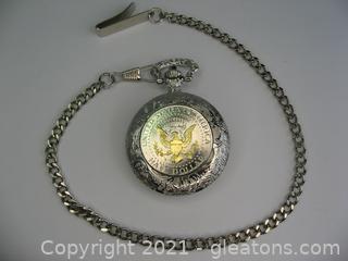 Half Dollar Pocket Watch with Chain